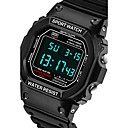 cheap HDMI Cables-SANDA Men's Sport Watch Smartwatch Wrist Watch Digital Japanese Quartz 30 m Water Resistant / Water Proof Chronograph LED Silicone Band Analog-Digital Casual Fashion Black / Silver - Black Red Blue