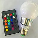 voordelige Slimme LED-lampen-1pc 3 W 120 lm E26 / E27 Slimme LED-lampen A60 (A19) 1 LED-kralen Krachtige LED Dimbaar / Op afstand bedienbaar / Decoratief RGB 85-265 V / 1 stuks / RoHs