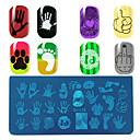 abordables Déco d'Intérieur-1 pcs Outil d'estampage à ongles Plaque d'estampage Modèle Manucure Manucure pédicure Mode Quotidien / Plate Stamping / Acier