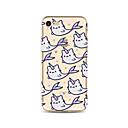 hesapli Kedi Oyuncakları-Pouzdro Uyumluluk Apple iPhone X / iPhone 8 Plus / iPhone 7 Yarı Saydam / Temalı Arka Kapak Tek boynuzlu Yumuşak TPU için iPhone X / iPhone 8 Plus / iPhone 8