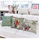 tanie Etui, torby i pokrowce do MacBooka-1 szt Bielizna Poszewka na poduszkę, Święto Akcent / Decorative