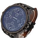 Недорогие Мужские часы-Муж. Спортивные часы Армейские часы Кварцевый С двумя часовыми поясами Cool Панк Кожа Группа Аналоговый Винтаж На каждый день Мода Нарядные часы Черный / Коричневый - / Один год / Цветной / KC 377A