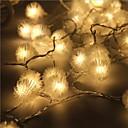 abordables Toupies Fidget-5m Guirlandes Lumineuses 40 LED LED Dip Blanc Chaud Imperméable / Connectible 5 V 1 set / IP44
