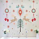 preiswerte Armbänder-Frohe Weihnachten drei Generationen von PVC transparente entfernbare Wandaufkleber 60 * 90cm