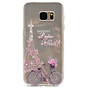 cheap Screen Protectors for Nokia-Case For Samsung Galaxy S7 edge / S7 Transparent / Pattern Back Cover Eiffel Tower Soft TPU for S7 edge / S7 / S5 Mini