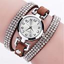 저렴한 쥬얼리 세트-여성용 손목 시계 모조 다이아몬드 / 펑크 / 멋진 PU 밴드 참 / 스파클 / 빈티지 블랙 / 블루 / 실버