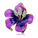 cheap Brooches-Women's Brooches - Stylish Brooch Black / Purple / Red For Wedding / Party / Dailywear / Casual