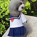 hesapli Köpek Giyim ve Aksesuarları-Kedi Köpek Kostümler Elbiseler Köpek Giyimi Denizci Mavi Pamuk Kostüm Evcil hayvanlar için Kadın's Cosplay Moda