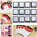 cheap Makeup & Nail Care-10 pcs Diecut Manicure Stencil / French Tips Guide Fashion Daily