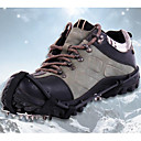 Buy Crampons Traction Cleats Climbing Shoes 18 Spikes Anti Slip Stainless Steel PP Camping / Hiking Snowmobiling Snow sports
