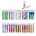 preiswerte Make-up & Nagelpflege-- Finger / Zehe - 3D Nails Nagelaufkleber - PVC - 10pcs nail foils + 1pcs nail foil glue Stück - 4cmX120cm each piece cm