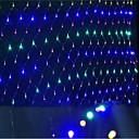 hesapli LED Gereçler-led ağları ışıkları yılbaşı ışıkları su geçirmez renklendirilmiş 96 lamba soketi