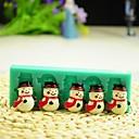 preiswerte Backzubehör & Geräte-Weihnachten Schneemann mit Schal Fondantkuchen Schokolade Silikonform Kuchen Dekorationswerkzeuge, l12 * w4 * h1.3cm