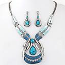 povoljno Naušnice-Žene Komplet nakita Viseće naušnice Ogrlice s privjeskom HALO Ispustiti dame Europska Moda Elegantno Smola Naušnice Jewelry Plava Za Party Special Occasion godišnjica Rođendan Dar