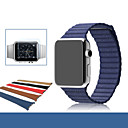 hesapli Mac Stickerlar-Watch Band için Apple Watch Series 3 / 2 / 1 Apple Deri Döngü Gerçek Deri Bilek Askısı