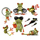 hesapli Oto Stickerları-ziqiao 3d kurbağa su geçirmez araba sticker komik geko otomobiller&motosiklet sticker çıkartma