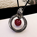 cheap Necklaces-Women's Pendant Necklace Long Ladies European Fashion Pearl Alloy Red Necklace Jewelry For Daily Casual
