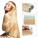preiswerte Backzubehör & Geräte-Febay Zum Festkleben Haarverlängerungen Glatt Unbehandeltes Haar Brasilianisches Haar Blonde Platinumblond Mittelbraun