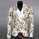 رخيصةأون قمصان رجالي-رجالي أبيض أسود أزرق L XL XXL سترة طباعة نادي / كم طويل / الربيع / الخريف