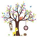 hesapli Dekorasyon Etiketleri-Hayvanlar Moda Botanik Duvar Etiketler Uçak Duvar Çıkartmaları Dekoratif Duvar Çıkartmaları, Vinil Ev dekorasyonu Duvar Çıkartması Duvar