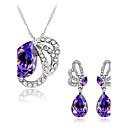 tanie Naszyjniki-Damskie Syntetyczny Ametyst / Kryształ Biżuteria Ustaw - Kryształ austriacki Motyl, Zwierzę Zawierać Purple Na Ślub / Impreza / Codzienny