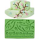 billige LED-kolbepærer-Bageværktøj Silikone Jul / Ferie / Fødselsdag Kage / Tærte / Chokolade bageform