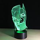 ieftine Lumini Nocturne LED-1 piesă 3D Nightlight Telecomandă Vedere nocturnă Mărime Mică Schimbare - Culoare Artistic LED Modern/Contemporan