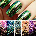 baratos Maquiagem & Produtos para Unhas-1set Purpurina Paetês arte de unha Manicure e pedicure Diário Glitters / Neon & Bright / Fashion