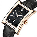 cheap Men's Watches-WWOOR Men's Wrist Watch Quartz 30 m Calendar / date / day Cool Leather Band Analog Casual Fashion Black / Brown - Gold Black / Silver White / Brown