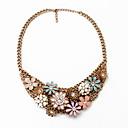 billige Mode Halskæde-Dame Kort halskæde Personaliseret Blomster Europæisk Mode Bronze Halskæder Smykker Til Fest Speciel Lejlighed Forlovelse