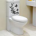 hesapli Bileklikler-Soyut Karton Duvar Etiketler Uçak Duvar Çıkartmaları Dekoratif Duvar Çıkartmaları Tuvalet Çıkartmaları, Kağıt Ev dekorasyonu Duvar