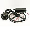رخيصةأون مجموعة أضواء-ZDM® 5m أضواء قطاع المتنامية 300 المصابيح 5050 SMD 1 كابلات دس / 1 × 12V 3A محول أحمر / أزرق قابل للقص / ضد الماء / قابلة للربط 1SET / IP65 / اللصق التلقي