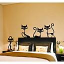 저렴한 장식 스티커-동물 패션 Leisure 벽 스티커 플레인 월스티커 데코레이티브 월 스티커, 종이 홈 장식 벽 데칼 벽