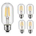 preiswerte LED-Scheinwerfer-5 Stück 4W 360lm lm E26/E27 LED Glühlampen T45 4pcs LED-Perlen COB Dekorativ Warmes Weiß Kühles Weiß 220V-240V