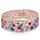 ieftine Brățări-Pentru femei Brățări Bangle Prieteni Inimă femei Modă Cristal Bijuterii brățară Galben / Curcubeu / Roz Pentru Zi de Naștere Cadou aleasă a inimii
