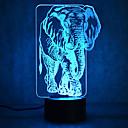 hesapli Evde Çocuk-1 parça 3D Gece Görüşü Çok Renkli USB Sensör Kısılabilir Su Geçirmez Renk Değiştiren