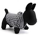 hesapli Anahtarlar & Soketler-Kedi / Köpek Kapüşonlu Giyecekler Köpek Giyimi Kareli Siyah Pamuk Kostüm Evcil hayvanlar için