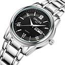 ieftine Ceasuri Bărbați-Bărbați Ceas La Modă Quartz Stil Oficial Argint 30 m Rezistent la Apă Calendar Analog Casual - Alb Negru