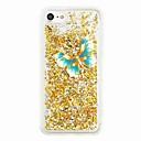 ieftine Carcase iPhone-Maska Pentru Apple iPhone 7 Plus iPhone 7 Scurgere Lichid Model Capac Spate Fluture Luciu Strălucire Moale TPU pentru iPhone 7 Plus