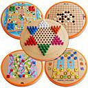 رخيصةأون المكياج & العناية بالأظافر-ألعاب الطاولة ألعاب دائري خشب قطع للأطفال للجنسين هدية