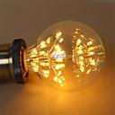tanie Żarówki filament LED-1szt 3W 200lm E26 / E27 Żarówka dekoracyjna LED G95 47 Koraliki LED COB Gwiaździsty Dekoracyjna Ciepła biel 220-240V