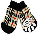 hesapli Köpek Giyim ve Aksesuarları-Kedi Köpek Çoraplar Sevimli Günlük/Sade Tatil Doğum Dünü Ters Çevirilebilir Sıcak Tutma Moda Sporlar Düğün Kareli Gökküşağı Evcil