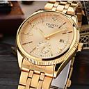 preiswerte Ringe-CHENXI® Herrn Armbanduhr Japanisch Kalender / Cool / Imitation Diamant Legierung Band Luxus / Glanz / Freizeit Gold / Zwei jahr / Maxell626