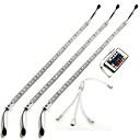 hesapli AC Adaptör ve Güç Kabloları-ZDM® 3M Sağlam LED Çubuklar 180 LED'ler 5050 SMD RGB Uzaktan Kontrol / Kısılabilir / Su Geçirmez 12 V / IP65 / Bağlanabilir