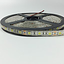 cheap LED Strip Lights-5m Flexible LED Light Strips 300 LEDs 5050 SMD Warm White / Red / Blue Remote Control / RC / Cuttable / Dimmable 12 V / IP65 / Waterproof / Linkable / Suitable for Vehicles / Self-adhesive