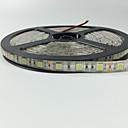 hesapli LED Şerit Işıklar-5m Esnek LED Şerit Işıklar 300 LED'ler 5050 SMD Sıcak Beyaz / Kırmızı / Mavi Uzaktan Kontrol / Kesilebilir / Kısılabilir 12 V / IP65 / Su Geçirmez / Bağlanabilir / Araçlar İçin Uygun