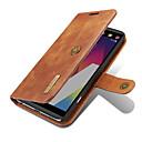 Недорогие Кейсы для планшетов-Кейс для Назначение LG Бумажник для карт Кошелек со стендом Флип Магнитный Чехол Сплошной цвет Твердый Настоящая кожа для LG V20 LG G6