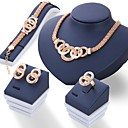 cheap Sports Support & Protective Gear-Women's Jewelry Set - Rhinestone Unique Design Include Gold / Silver For Wedding / Party / Daily / Rings / Earrings / Necklace