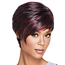 cheap Makeup & Nail Care-Synthetic Wig Straight Style Bob Capless Wig Ombre Dark Wine Synthetic Hair Women's Heat Resistant / Ombre Hair Ombre Wig Natural Wigs / Yes