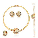 Buy Jewelry Set Earrings Necklace Euramerican Fashion Rhinestone Alloy Geometric 1 Pair ForWedding Party Special